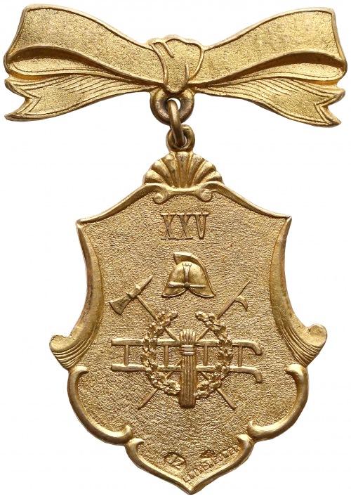 Zakładowa Straż Ogniowa w Żyrardowie ZŁOTY Żeton 1884-1909