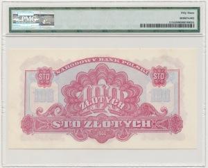 100 złotych 1944 ...owe - aA - najrzadsza odmiana - PMG 53