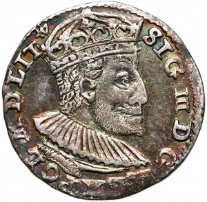Zygmunt III Waza, Trojak Olkusz 1591 - ze znakiem