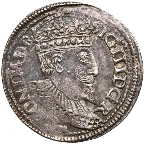Zygmunt III Waza, Trojak Olkusz 1597 - przebitka R na L
