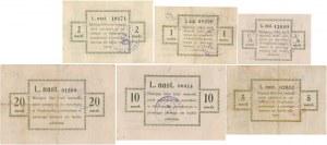 Puck 1/2-20 mk 1920 - komplet nominałowy (6szt)