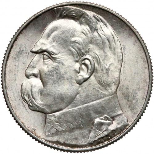 Piłsudski 5 złotych 1938 - piękne