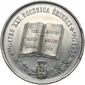1880r. Medal 25 rocznica śmierci Adama Mickiewicza