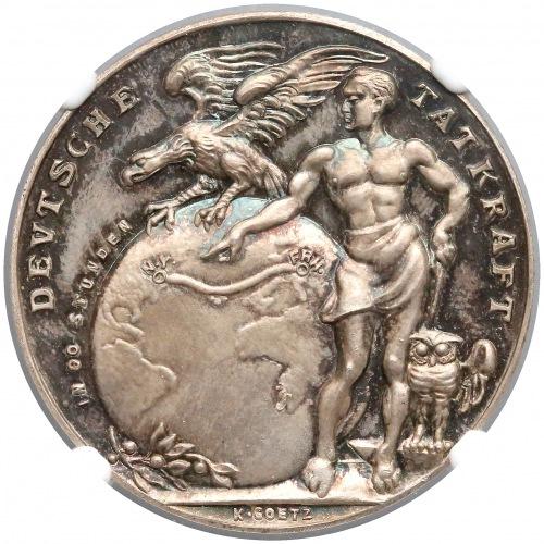 Niemcy, medal Zeppelin (Goetz) 1924 - NGC MS65