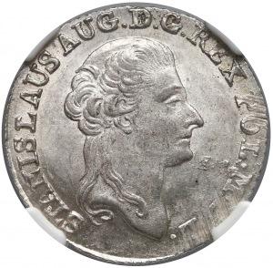 Poniatowski, Złotówka 1790 EB - piękna