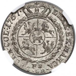 Poniatowski, Złotówka 1767 FS - data wąsko