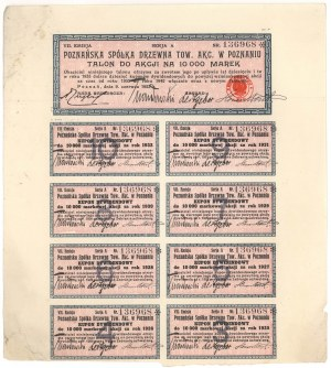 Poznańska Spółka Drzewna, Em.7, 10.000 mk 1923