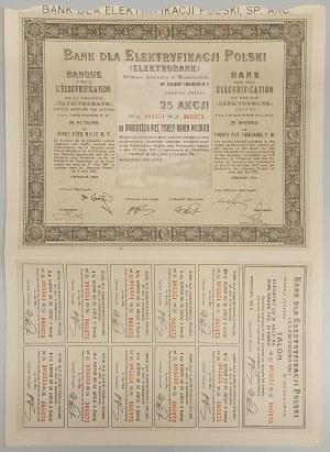 Bank dla Elektryfikacji Polski, Em.3, 25x 1.000 mk 1924