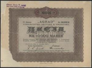 AGRAD Towarzystwo Akcyjne w Grodzisku, Em.4, 10.000 mk 1923