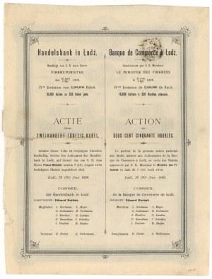 Bank Handlowy w Łodzi, Em.4, 250 rub 1896
