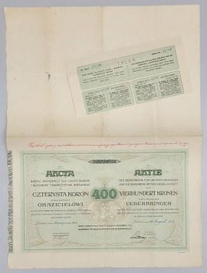 Bank Ziemski dla Galicyi, Śląska i Bukowiny T.A. 400 kr 1918 DUPLIKAT