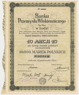 Bank Przemysłu Włókienniczego w Łodzi, 10x 1.000 mk 1923