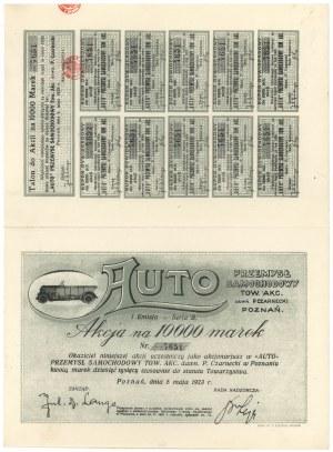AUTO Przemysł Samochodowy Tow. Akc., Em.1, 10.000 mk 1923