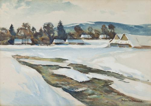 Stefan Filipkiewicz (1879 - 1944), Pejzaż zimowy