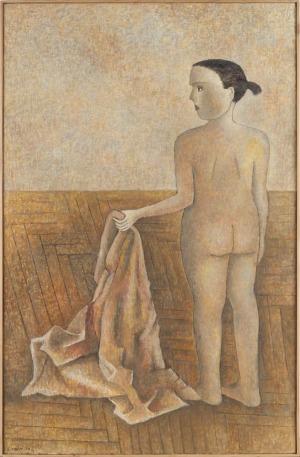 Lucyna Patalita (Ur. 1955), Akt z draperią, 1997-98 r.