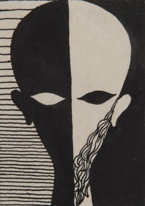 Edward Krasiński (1925 - 2004), Czaszka Flauberta, 1952