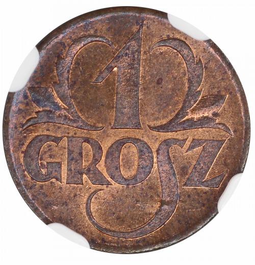 1 grosz 1923 NGC MS 63 RB