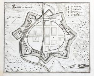 DĄBIE (obecnie Szczecin Dąbie), Plan miasta, ryt. Matthäus Merian, pochodzi z: Zeiler, Martin, Topographia Electoratus Brandenburgi ...