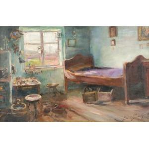 Sylweriusz SASKI (1863-1954), W pracowni szewskiej