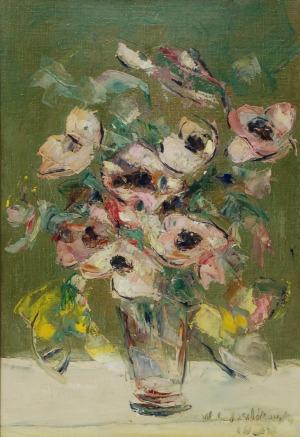 Włodzimierz TERLIKOWSKI (1873-1951), Kwiaty w wazonie, 1938