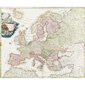 Johann Baptist HOMANN (1664-1724), Mapa Europy