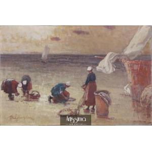 Wankie Władysław, Rybaczki na brzegu morza – Ostrygarki