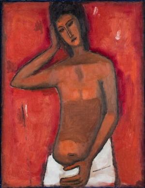 Jerzy Nowosielski, Akt czerwony, 1958