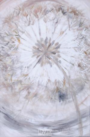 Mariola Świgulska (Ur. 1961), Złote promienie z cyklu Zauroczona dmuchawcami, 2016