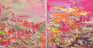 Gossia Zielaskowska, Pink Amore Glitter Map, 2016