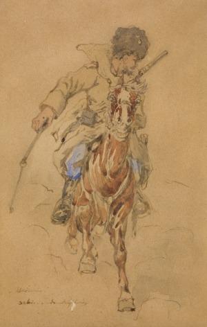 Tadeusz Rybkowski (1848-1926), Ucieczka – jeździec na koniu