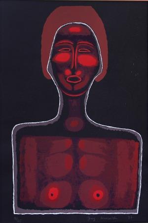 Jerzy Nowosielski (1923 – 2011), Akt czerwony, 1997 r.