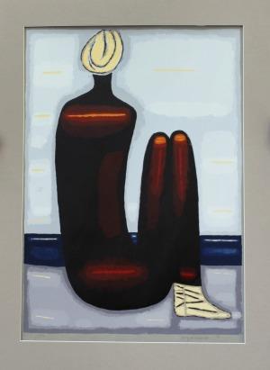 Jerzy Nowosielski (1923 – 2011), Akt na plaży, 1999 r.