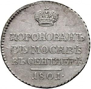 Aleksander I żeton koronacyjny 1801