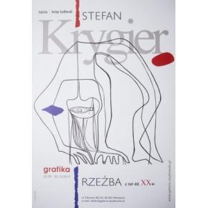 Monika Krygier, Stefan Krygier. Grafika Rzeźba – plakat do wystawy w Galerii Stefana Szydłowskiego (2014)