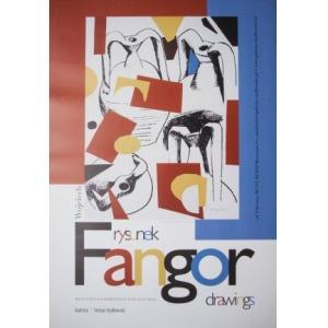 Monika Krygier, Wojciech Fangor Rysunek – plakat do wystawy w Galerii Stefana Szydłowskiego (2013)