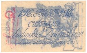 Lwów Cukiernia Zalewskiego 1 korona