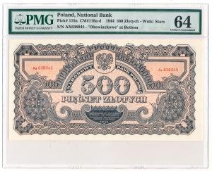 500 złotych 1944 ...owe CRISP PMG 64 - Wyśmienity