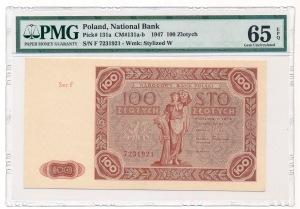 100 złotych 1947 - F - PMG 65 EPQ