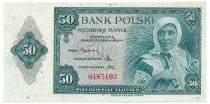50 złotych 1939