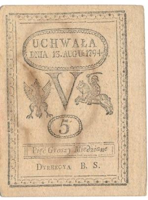 5 groszy 1794 szeroki margines