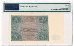 20 zloty 1946 G PMG 66 EPQ