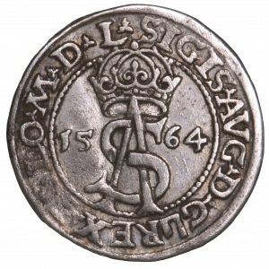 Zygmunt II August, trojak 1564 Wilno L/LI