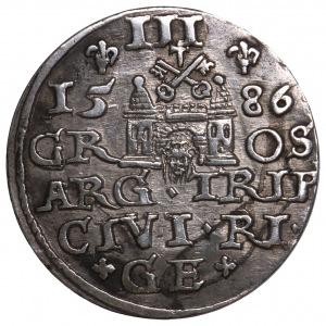Stefan Batory, trojak 1586 Ryga