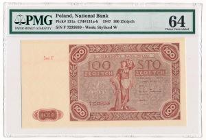 100 zloty 1947 - F - PMG 64