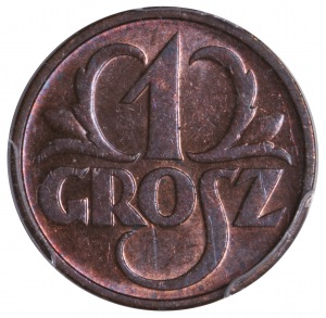 1 grosz 1936 PCGS MS63 RB