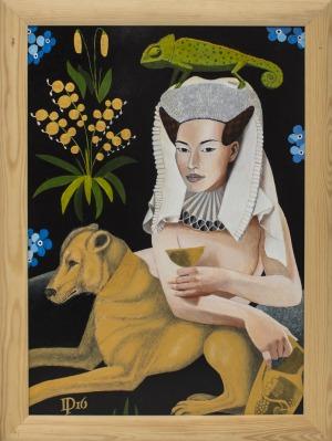 Daniel Porada, Naga kobieta w raju III, 2016