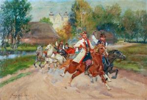 Jerzy KOSSAK (1886-1955), Wesele krakowskie