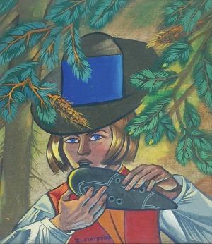 Zofia STRYJEŃSKA (1894-1976), Chłopiec grający na okarynie