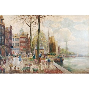 Max F. RICHTER-REICH (1896-1950), Targ kwiatowy w Amsterdamie