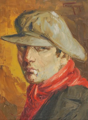 Grzegorz MENDOLY (1898-1966), Apasz z papierosem